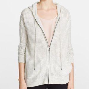 XS Vince cashmere wool blend zip sweater